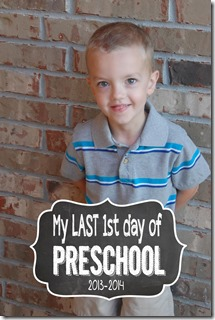 1st day of Preschool Picture